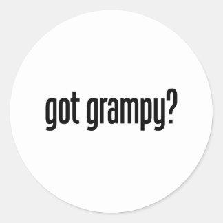 got grampy classic round sticker