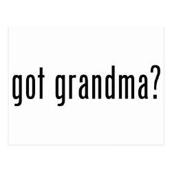 Postcard with got grandma? design