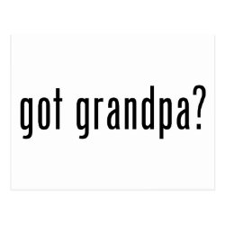 Postcard with got grandpa? design