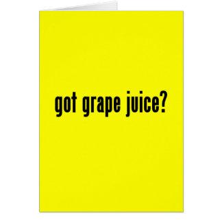 got grape juice card