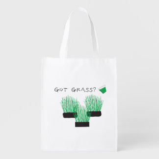 got grass? (wheatgrass) reusable grocery bag