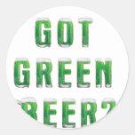 Got Green Beer Classic Round Sticker
