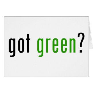Got Green? Cards
