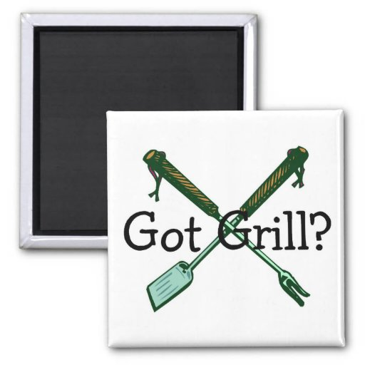 Got Grill 2 Inch Square Magnet