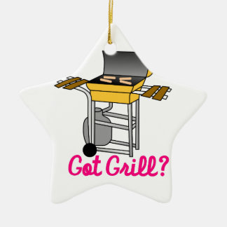 Got Grill? Double-Sided Star Ceramic Christmas Ornament