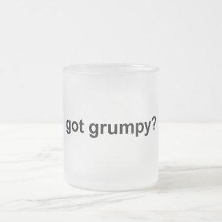 Got Grumpy Frosted Glass Coffee Mug