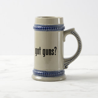 got guns? beer stein
