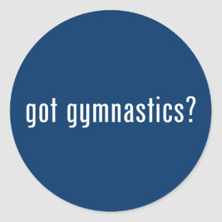 got gymnastics? classic round sticker