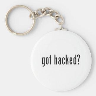 got hacked? basic round button keychain