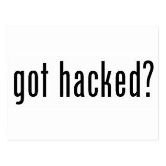 got hacked? postcard