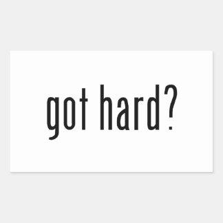 got hard? rectangle sticker