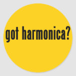 got harmonica? round stickers