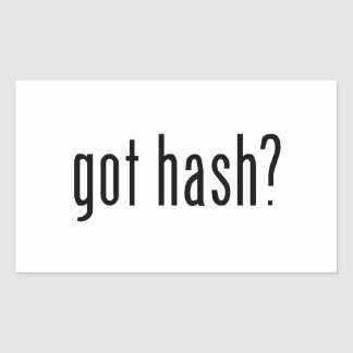 got hash rectangle stickers