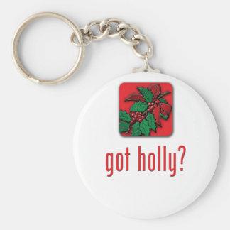 got holly? keychain