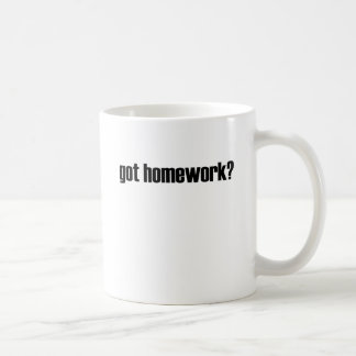 Got Homework? Classic White Coffee Mug