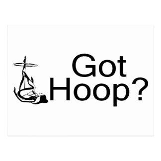 Got Hoop Hula Hoop Girl Postcard