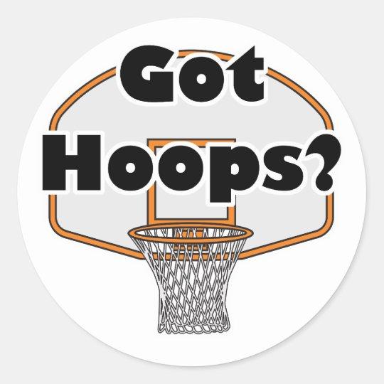 got hoops basketball hoop classic round sticker