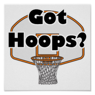 got hoops basketball hoop poster