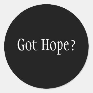 Got Hope? Classic Round Sticker