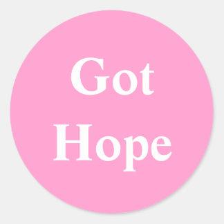 Got Hope - Font 2 Classic Round Sticker