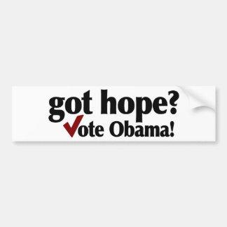 Got Hope Vote Obama Bumper Sticker