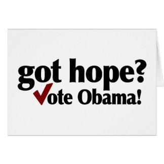 Got Hope Vote Obama Card