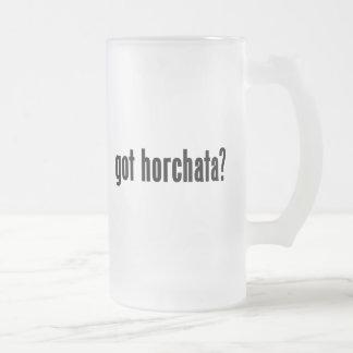 got horchata? frosted glass beer mug