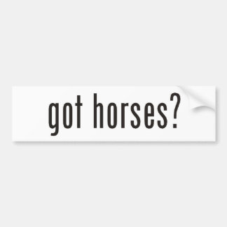 got horses? bumper sticker