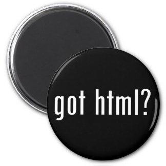 got html? 2 inch round magnet