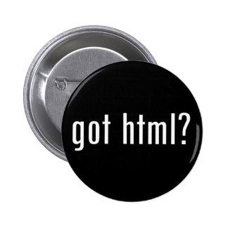 got html? pinback button