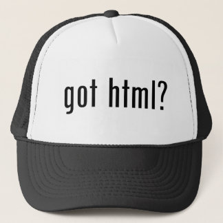got html? trucker hat