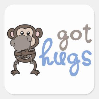 Got hugs pegatina cuadrada