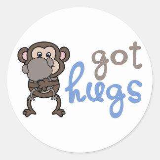 Got hugs pegatina redonda
