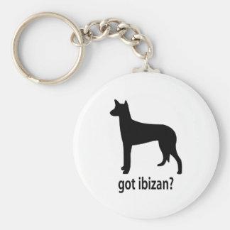 Got Ibizan Hound Basic Round Button Keychain