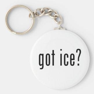 got ice? basic round button keychain