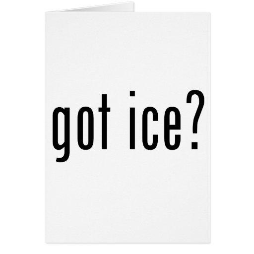 got ice? greeting card