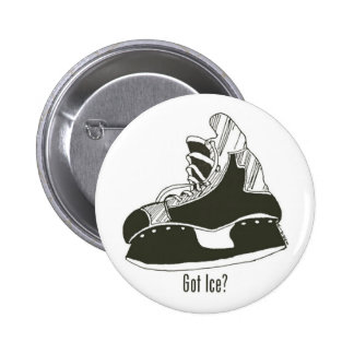 Got Ice? Hockey Skate Button