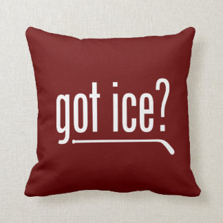 got ice? (hockey) throw pillow