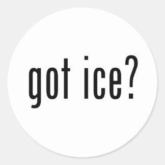 got ice? round sticker
