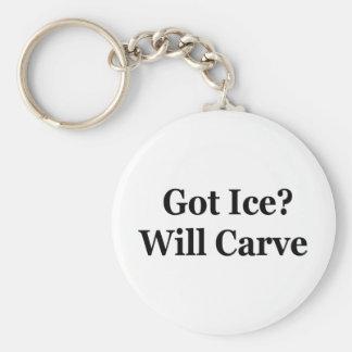 Got Ice? Will Carve Basic Round Button Keychain