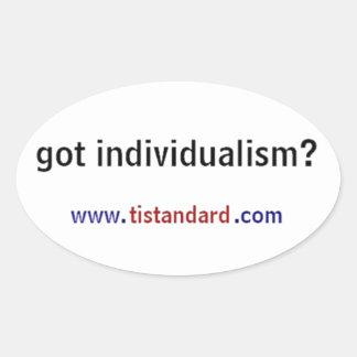 Got Individualism? Oval Sticker