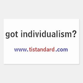 Got Individualism? Rectangular Sticker