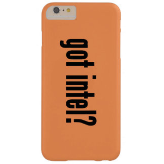 got intel? barely there iPhone 6 plus case