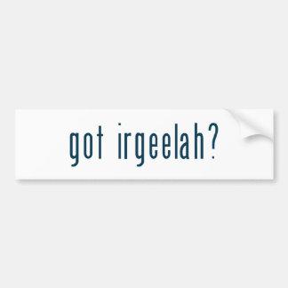 got irgeelah bumper sticker