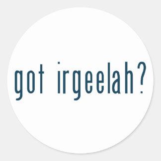 got irgeelah classic round sticker