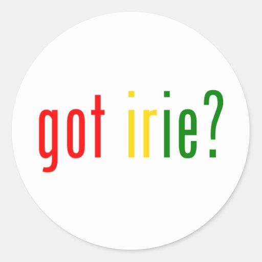 got irie? classic round sticker