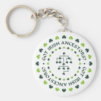 Got Irish Ancestors? Basic Round Button Keychain