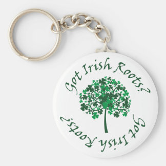 Got Irish Roots? Basic Round Button Keychain