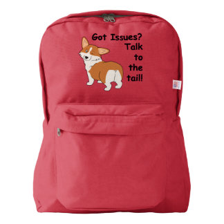 """Got Issues"" Welsh Corgi American Apparel™ Backpack"