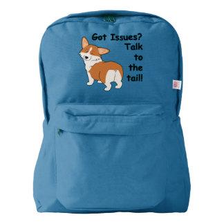 """Got Issues"" Welsh Corgi Backpack"